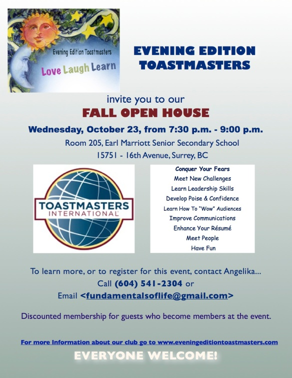 Evening Edition Open House Fall 2013