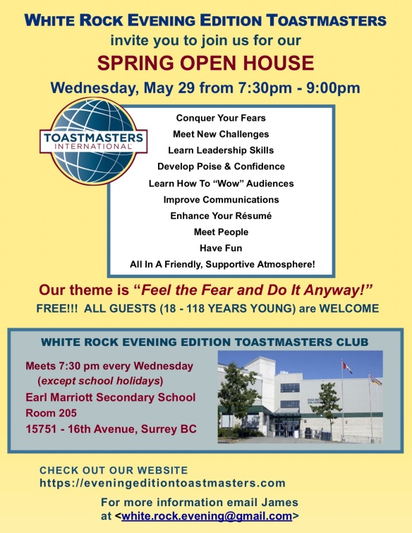 WHITE ROCK EVENING EDITION OPEN HOUSE MAY 2019 rev